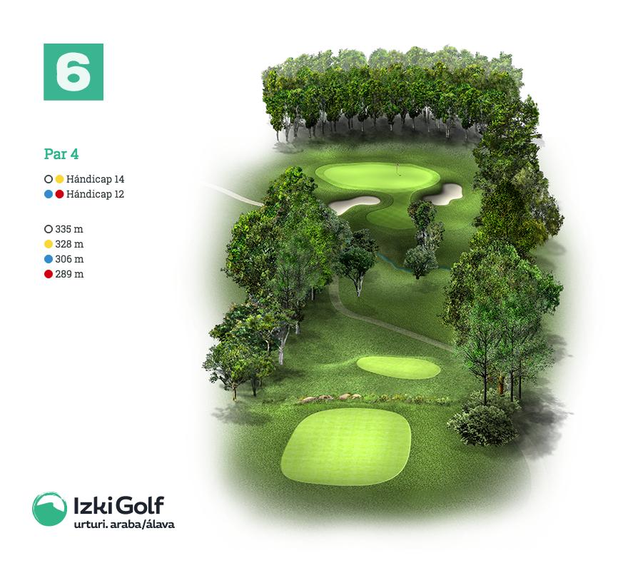Izki Golf Hoyo 6 España